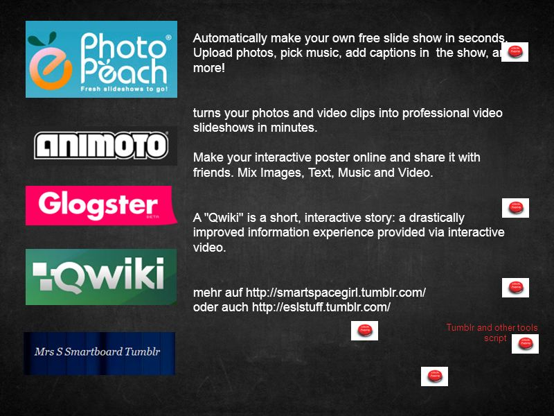 Automatically make your own free slide show in seconds.