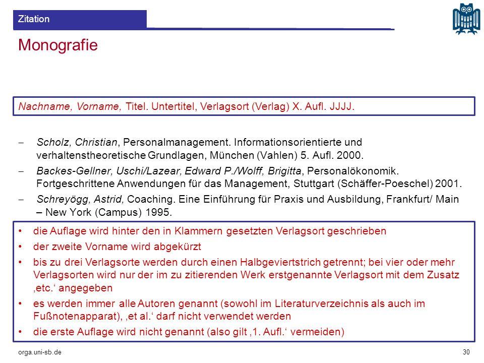 Monografie  Scholz, Christian, Personalmanagement. Informationsorientierte und verhaltenstheoretische Grundlagen, München (Vahlen) 5. Aufl. 2000.  B
