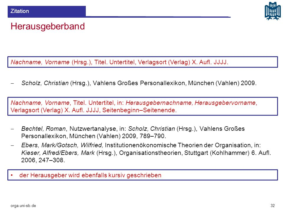 Herausgeberband  Scholz, Christian (Hrsg.), Vahlens Großes Personallexikon, München (Vahlen) 2009.  Bechtel, Roman, Nutzwertanalyse, in: Scholz, Chr