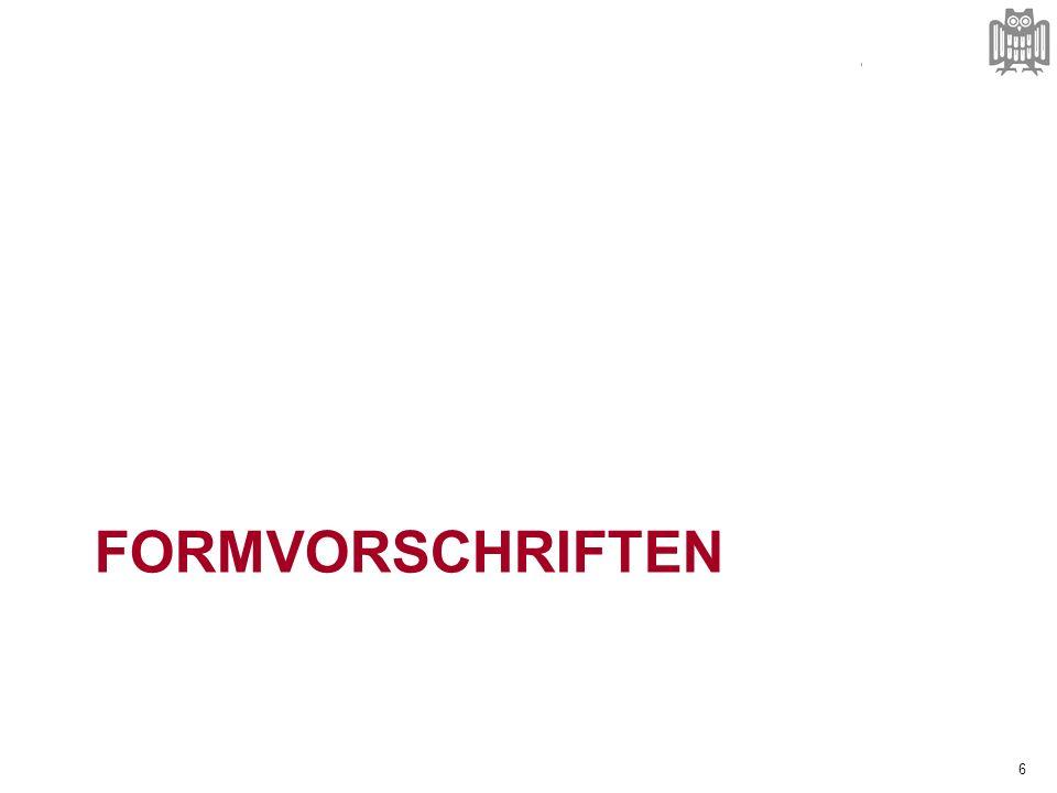 FORMVORSCHRIFTEN 6