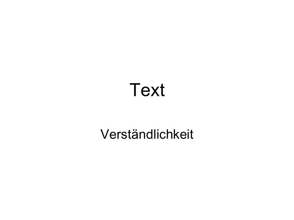 Text Verständlichkeit