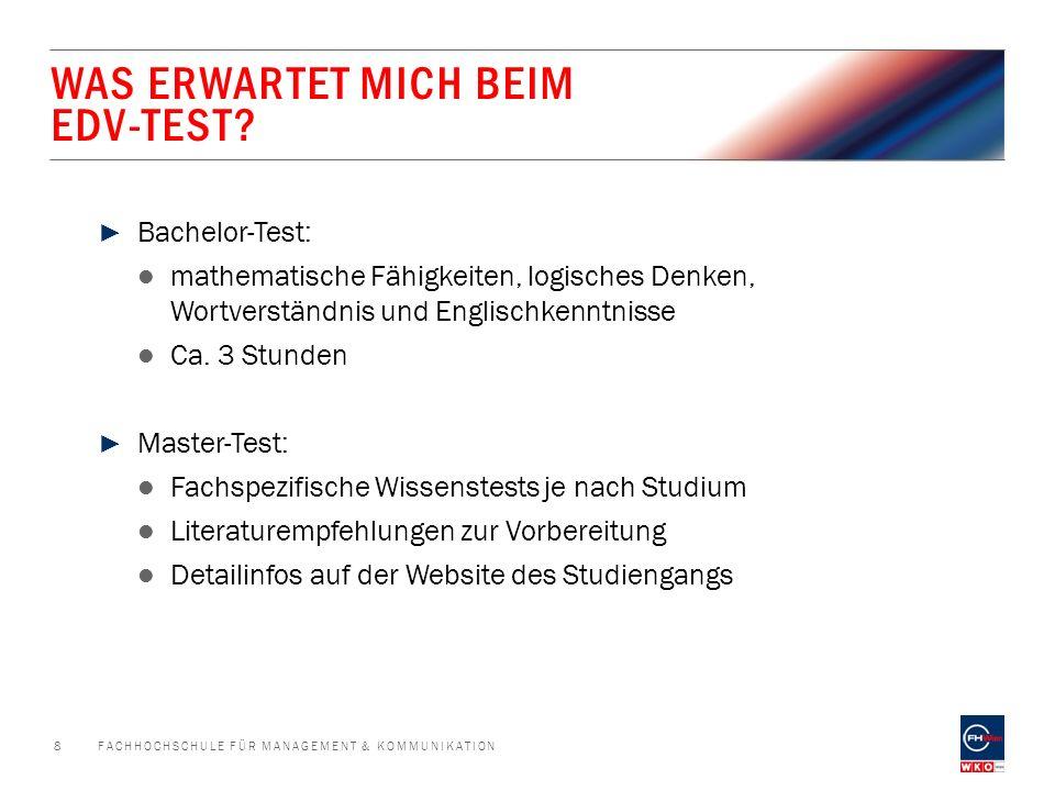 WAS ERWARTET MICH BEIM EDV-TEST.