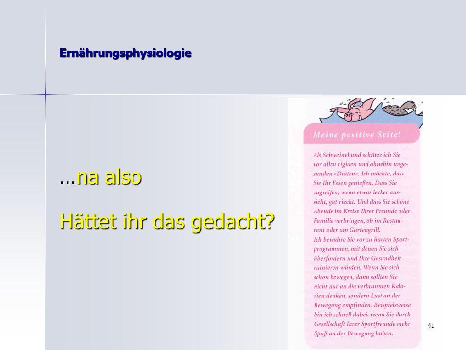 """40 Ernährungsphysiologie Die """"Dr."""