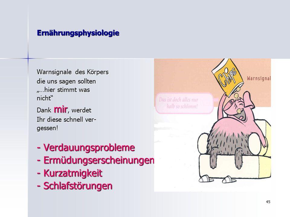 "44 Ernährungsphysiologie "" Quo vadis…?"