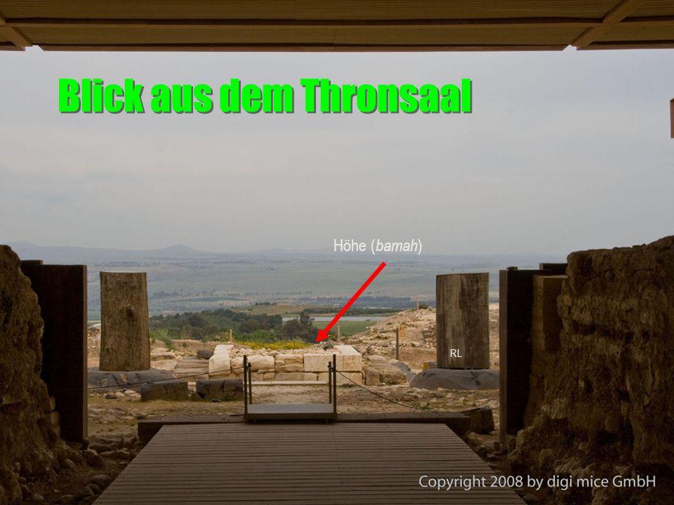 Blick aus dem Thronsaal Höhe ( bamah ) RL