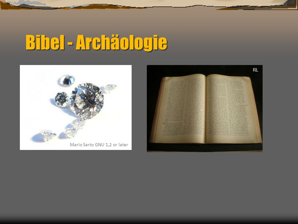 Bibel - Archäologie Mario Sarto GNU 1,2 or later RL