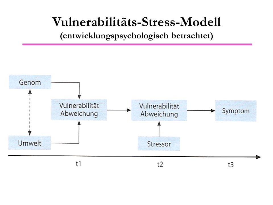 Vulnerabilitäts-Stress-Modell (entwicklungspsychologisch betrachtet)
