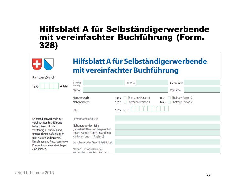 Hilfsblatt A für Selbständigerwerbende mit vereinfachter Buchführung (Form.