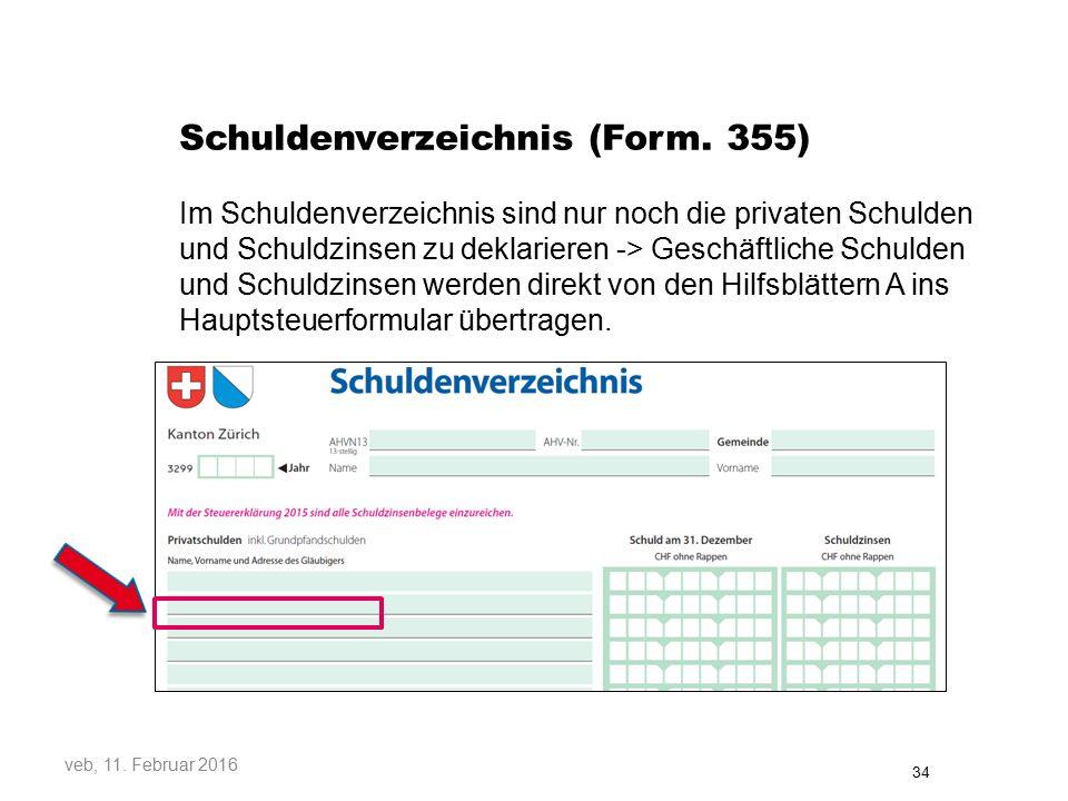 Schuldenverzeichnis (Form.
