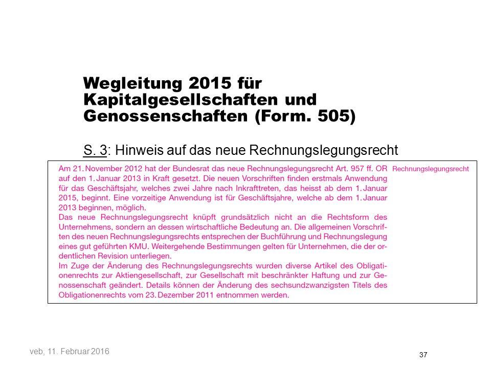 Wegleitung 2015 für Kapitalgesellschaften und Genossenschaften (Form.
