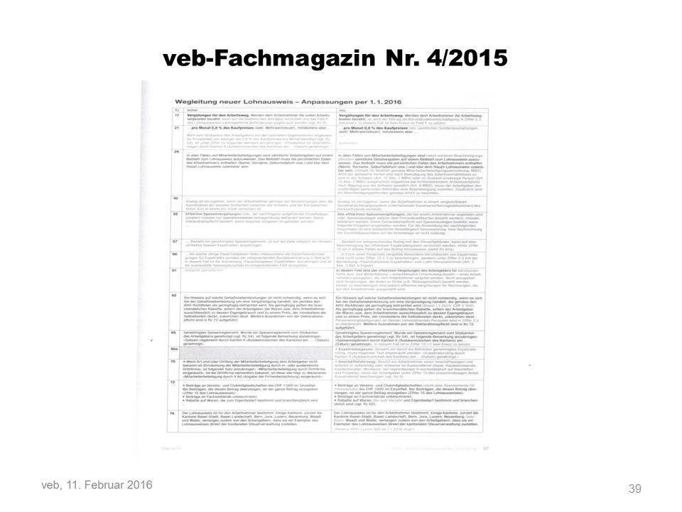 39 veb-Fachmagazin Nr. 4/2015