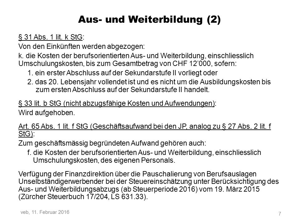 S.12: Erläuterungen zu der Position «Korrektur: Eigene Kapitalanteile» (Ziffer 15) veb, 11.