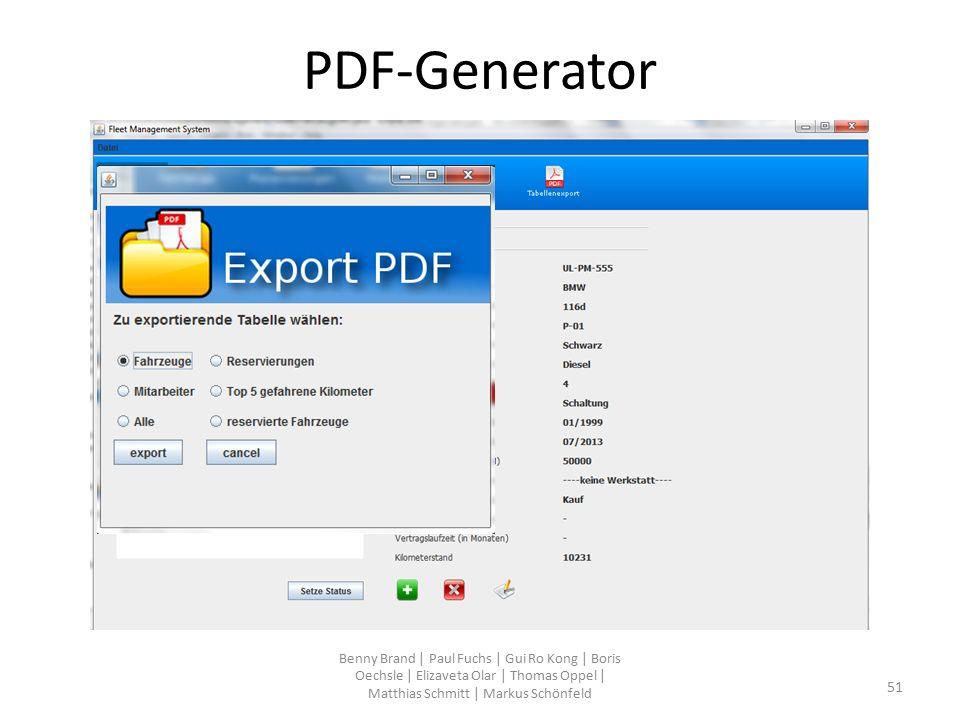 PDF-Generator Benny Brand | Paul Fuchs | Gui Ro Kong | Boris Oechsle | Elizaveta Olar | Thomas Oppel | Matthias Schmitt | Markus Schönfeld 51