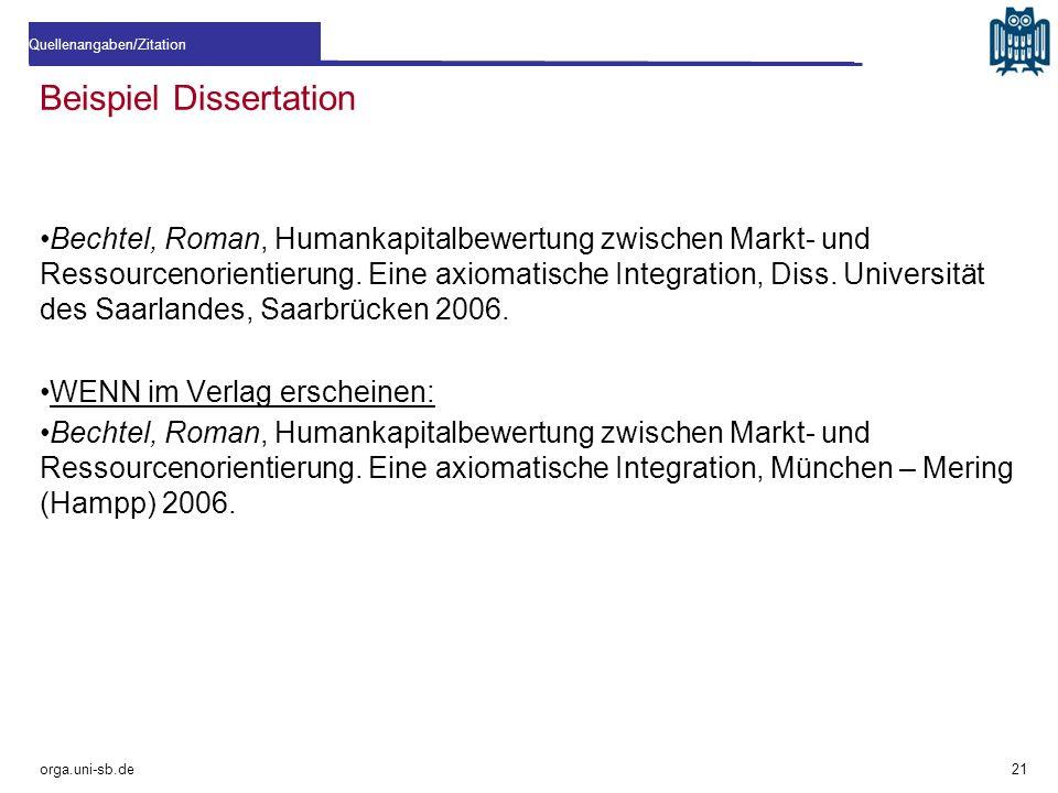 Beispiel Dissertation Bechtel, Roman, Humankapitalbewertung zwischen Markt- und Ressourcenorientierung. Eine axiomatische Integration, Diss. Universit