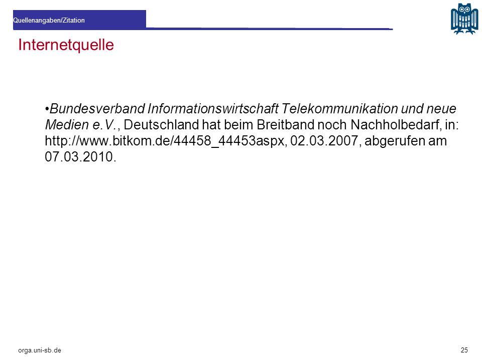 Internetquelle Bundesverband Informationswirtschaft Telekommunikation und neue Medien e.V., Deutschland hat beim Breitband noch Nachholbedarf, in: htt