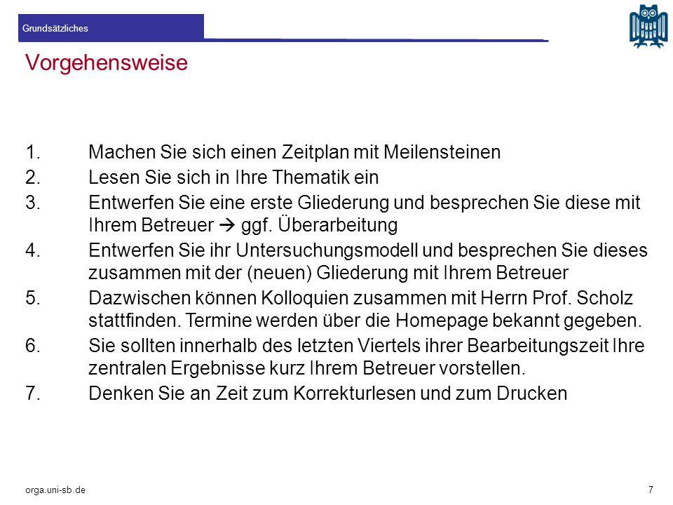 Quellenfriedhöfe orga.uni-sb.de !Bitte vermeiden! 18