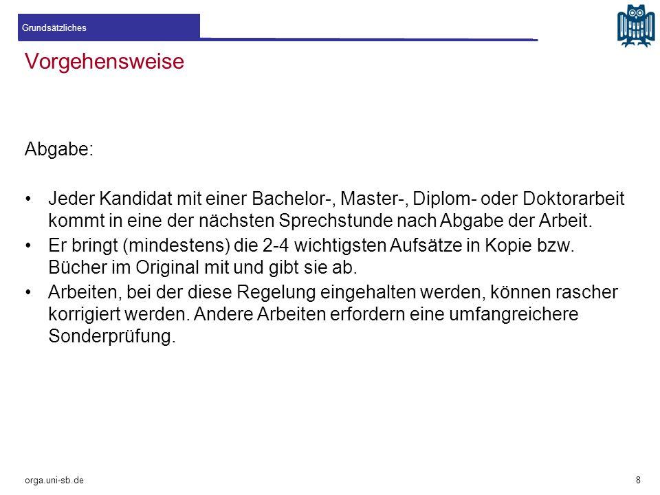 Quellenmonotonie orga.uni-sb.de !Bitte vermeiden! 19