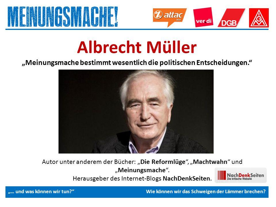 """Das politische Europa Autor unter anderem der Bücher: """"Die Reformlüge , """"Machtwahn und """"Meinungsmache ."""