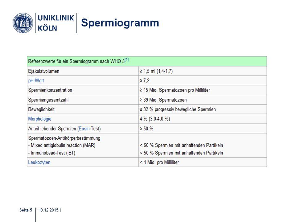 Seite 5 10.12.2015 | Spermiogramm