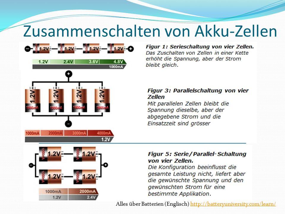 Zusammenschalten von Akku-Zellen Alles über Batterien (Englisch) http://batteryuniversity.com/learn/http://batteryuniversity.com/learn/