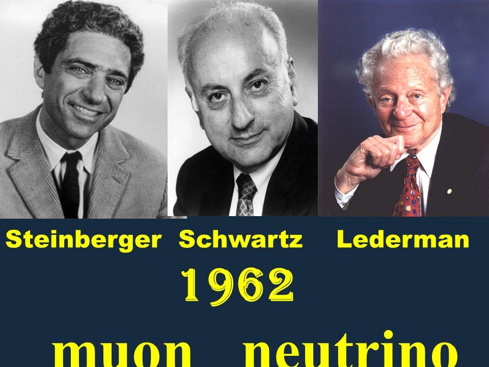 Steinberger Schwartz Lederman 1962 muon neutrino