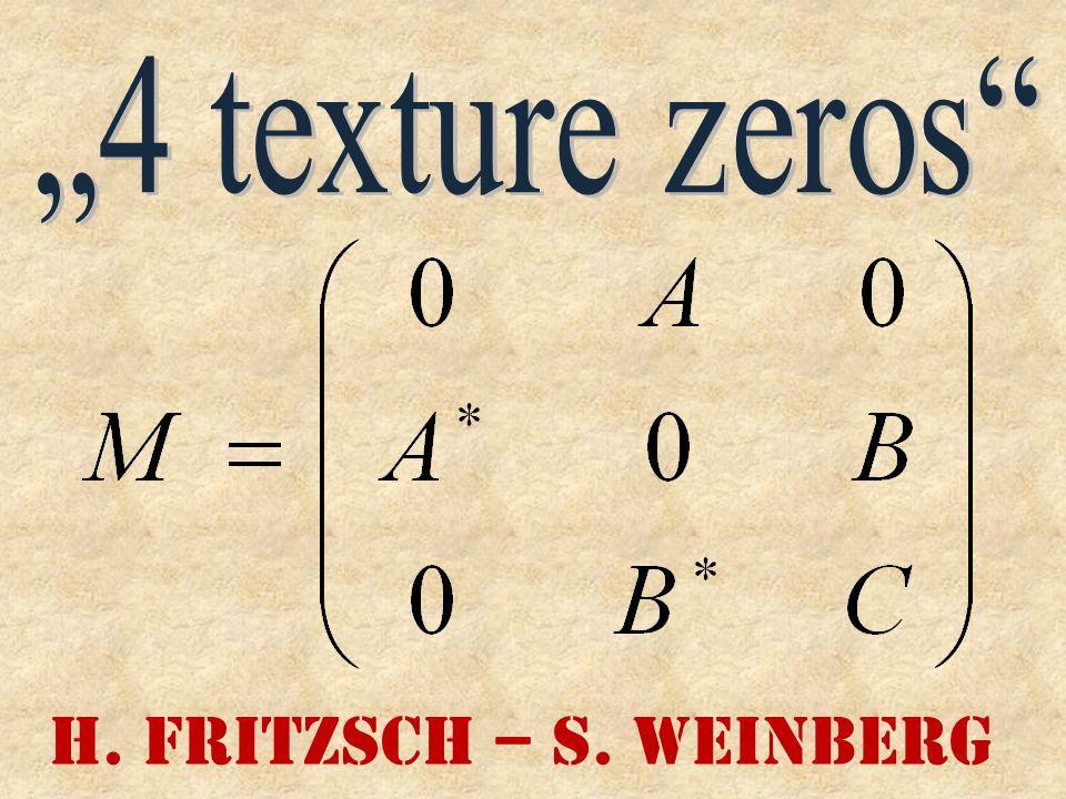 H. Fritzsch – S. Weinberg