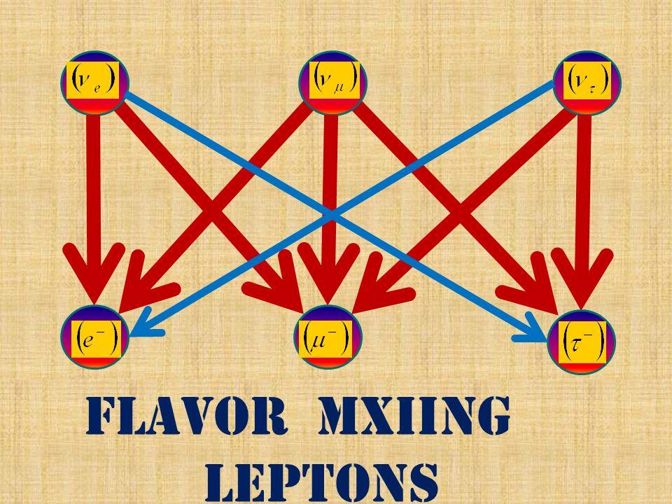 flavor mxiing leptons