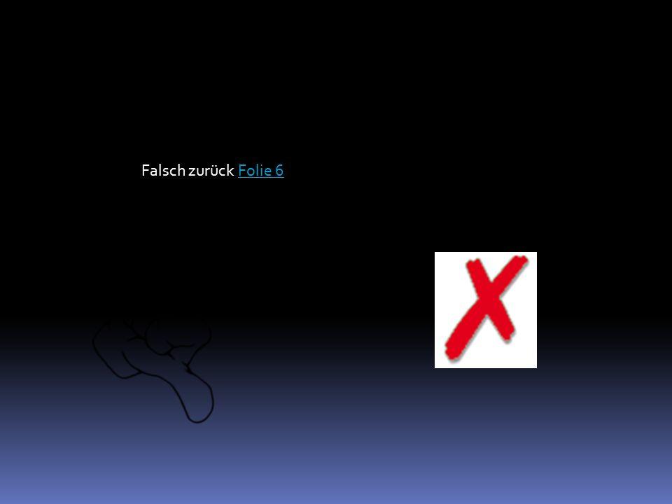 Falsch zurück Folie 6Folie 6