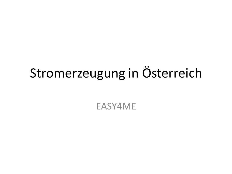 Stromerzeugung in Österreich EASY4ME