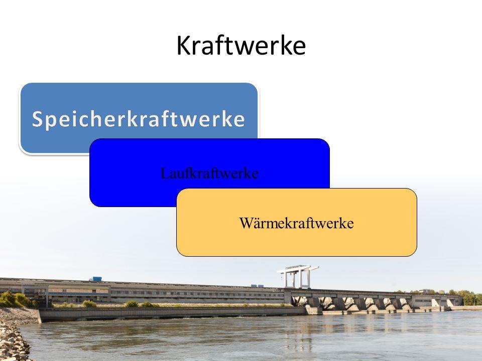 Laufkraftwerke Wärmekraftwerke Kraftwerke
