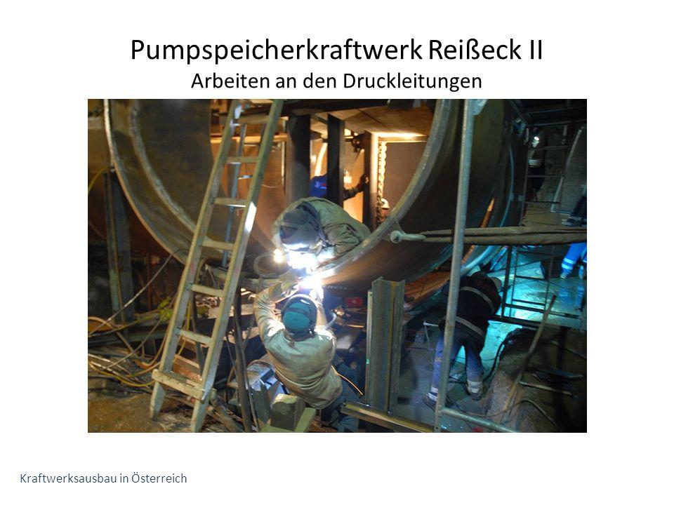 Pumpspeicherkraftwerk Reißeck II Arbeiten an den Druckleitungen Kraftwerksausbau in Österreich