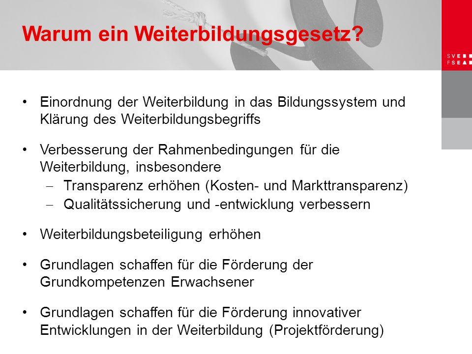21.Mai 2006 Neuer Verfassungsartikel zur Weiterbildung vom Volk angenommen  Bund erhält mit Art.