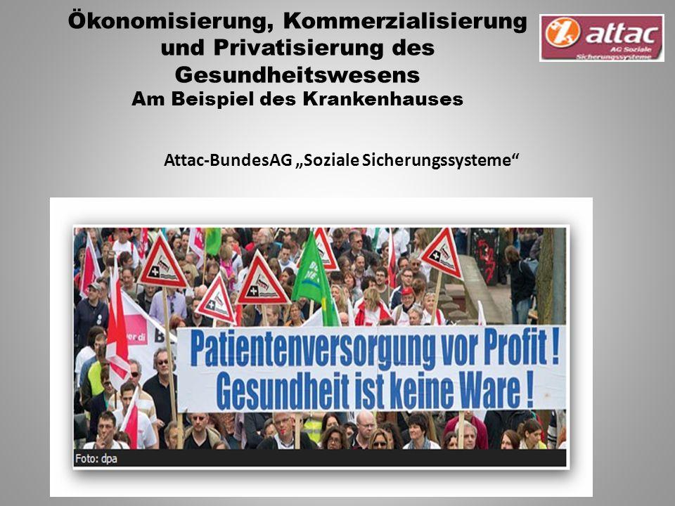 """Attac-BundesAG """"Soziale Sicherungssysteme Ökonomisierung, Kommerzialisierung und Privatisierung des Gesundheitswesens Am Beispiel des Krankenhauses"""