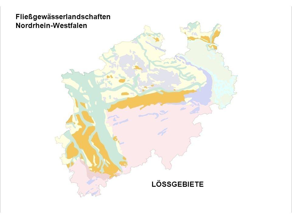 Fließgewässerlandschaften Nordrhein-Westfalen LÖSSGEBIETE Löss- lehmgeprägte Fließgewässer der Bördenlandschaften