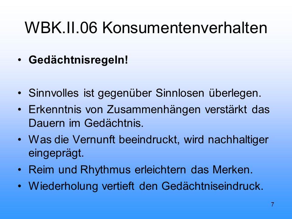 7 WBK.II.06 Konsumentenverhalten Gedächtnisregeln.