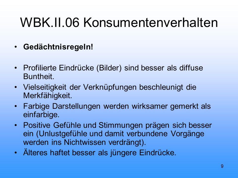 9 WBK.II.06 Konsumentenverhalten Gedächtnisregeln.