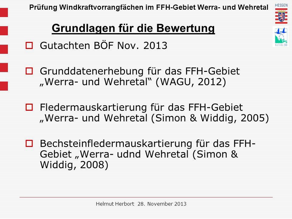 Prüfung Windkraftvorrangfächen im FFH-Gebiet Werra- und Wehretal Helmut Herbort 28.