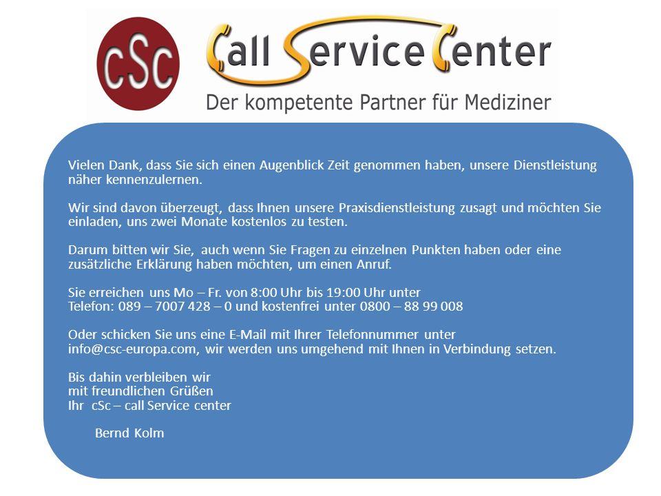 Vielen Dank, dass Sie sich einen Augenblick Zeit genommen haben, unsere Dienstleistung näher kennenzulernen.