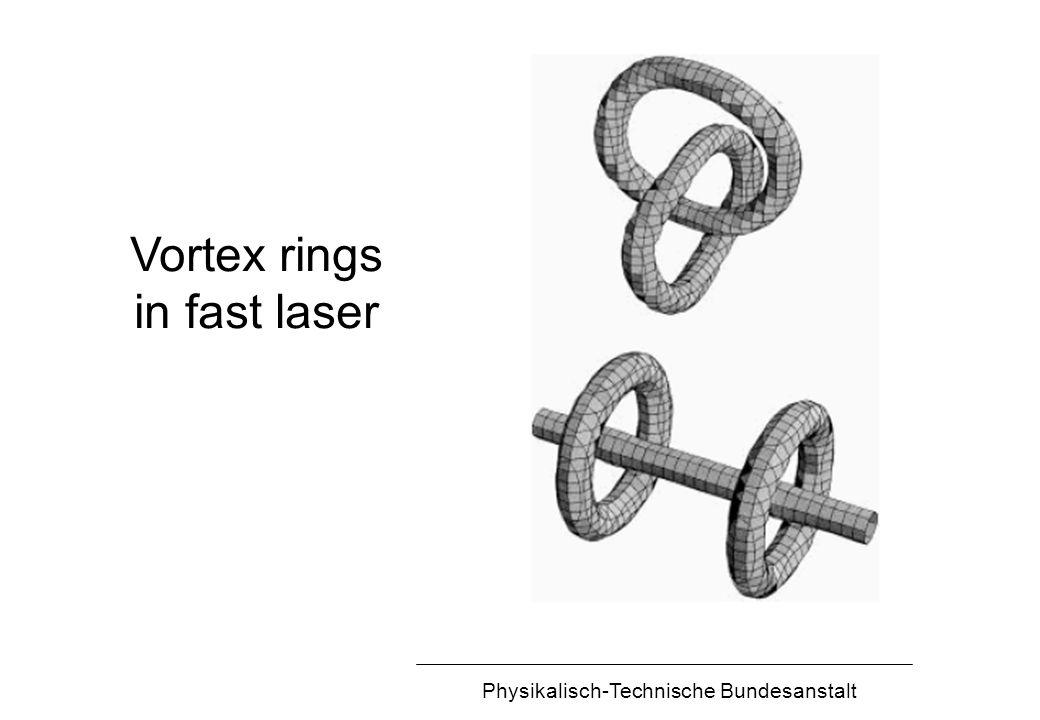 Physikalisch-Technische Bundesanstalt Vortex rings in fast laser