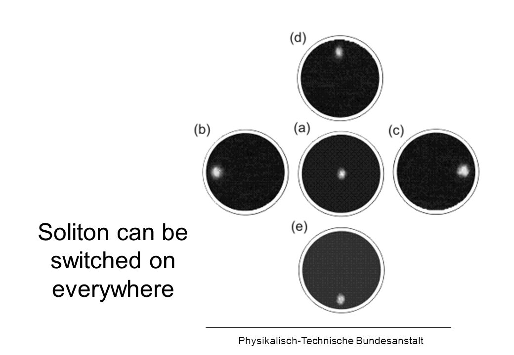 Physikalisch-Technische Bundesanstalt Soliton can be switched on everywhere