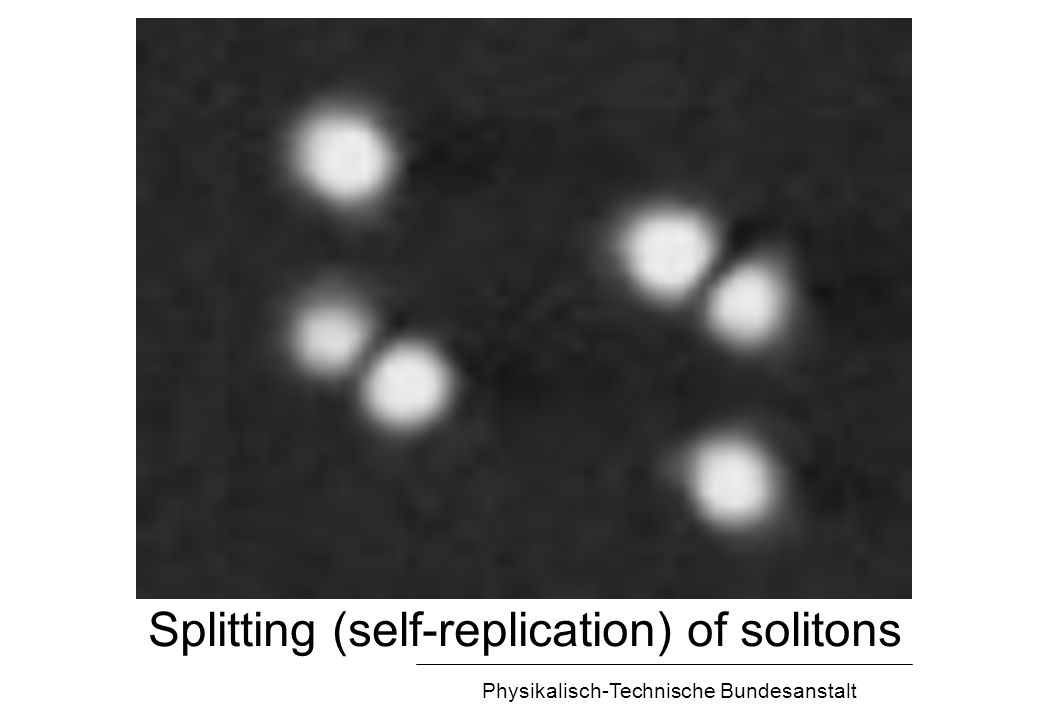 Physikalisch-Technische Bundesanstalt Splitting (self-replication) of solitons