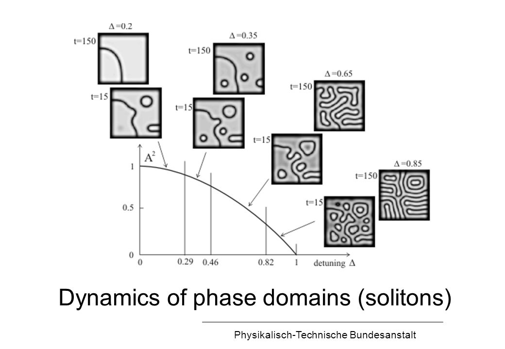 Physikalisch-Technische Bundesanstalt Dynamics of phase domains (solitons)