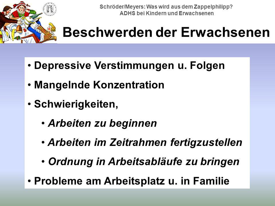 Schröder/Meyers: Was wird aus dem Zappelphilipp.