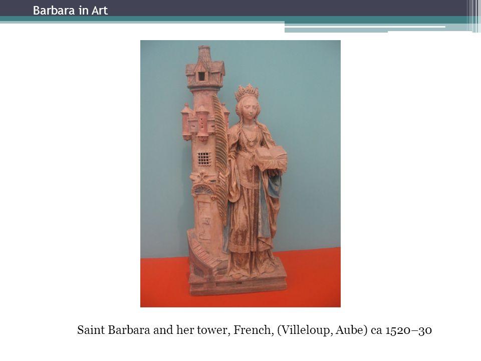Enthauptung Barbaras durch ihren Vater Dioscuros, Barbara-Altar von Jerg Ratgeb in der Stadtkirche Schwaigern, 1510 Barbara in Art