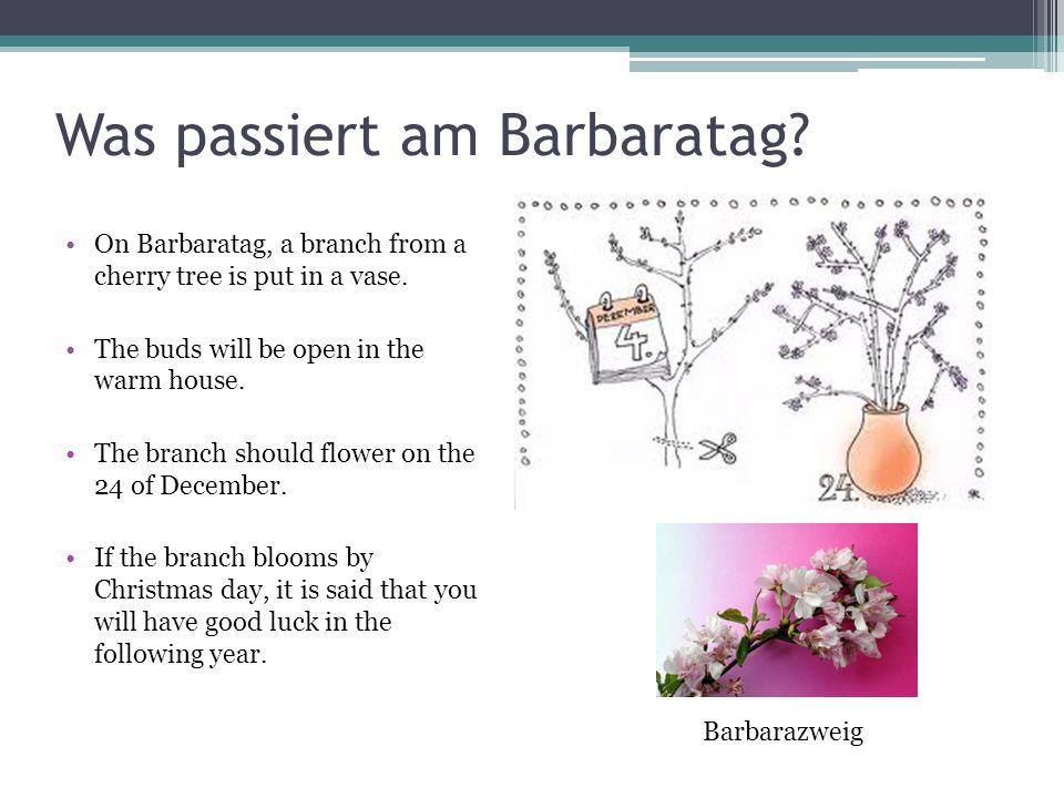 Barbarataglied Es ist ein Ros entsprungen, aus einer Wurzel zart, wie uns die alten sungen von Jesse kam die Art.