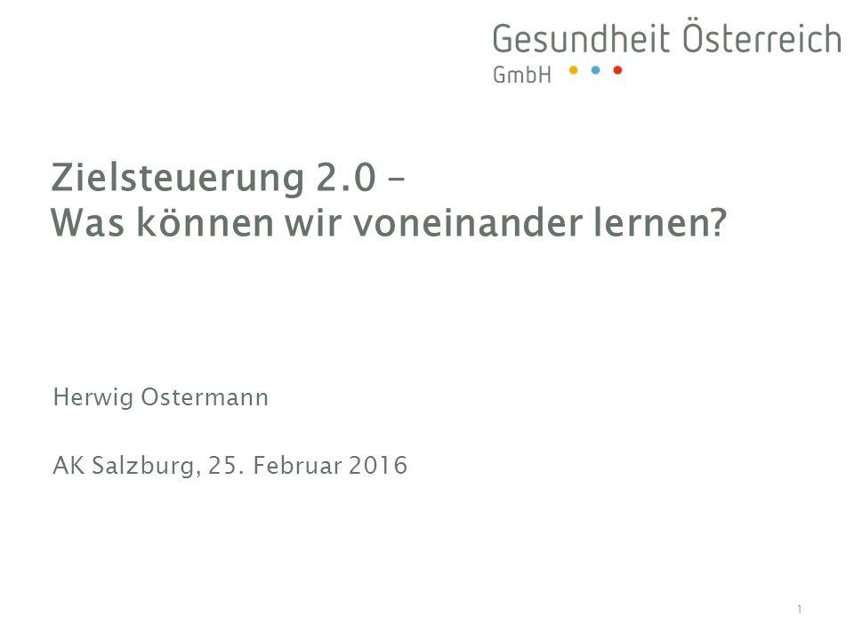 »Agenda »Weswegen Zielsteuerung-Gesundheit.