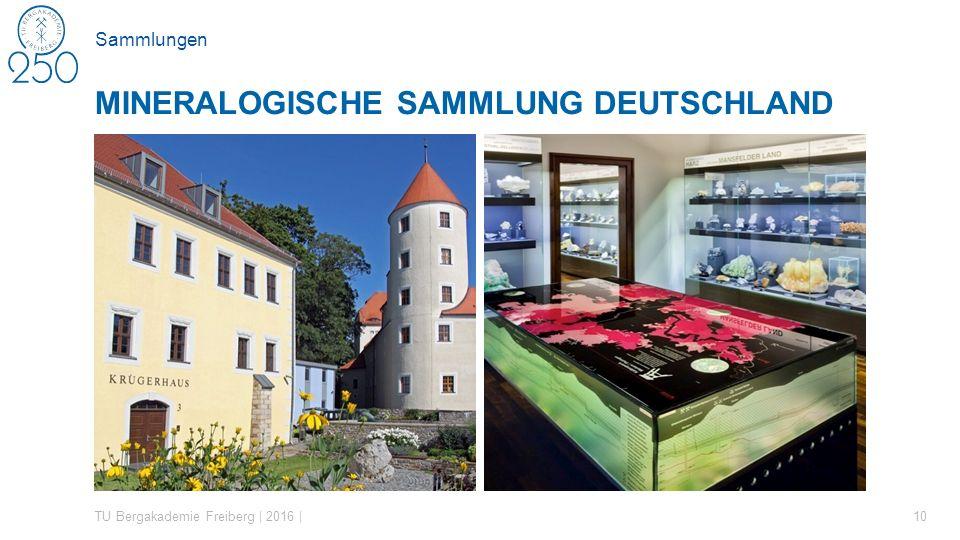 Sammlungen TU Bergakademie Freiberg | 2016 | 10 MINERALOGISCHE SAMMLUNG DEUTSCHLAND