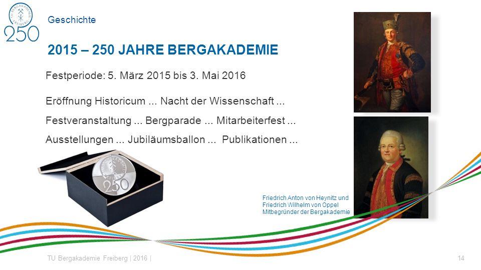 Friedrich Anton von Heynitz und Friedrich Wilhelm von Oppel Mitbegründer der Bergakademie Geschichte Festperiode: 5.