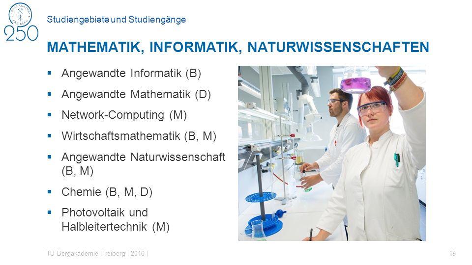 Studiengebiete und Studiengänge  Angewandte Informatik (B)  Angewandte Mathematik (D)  Network-Computing (M)  Wirtschaftsmathematik (B, M)  Angew