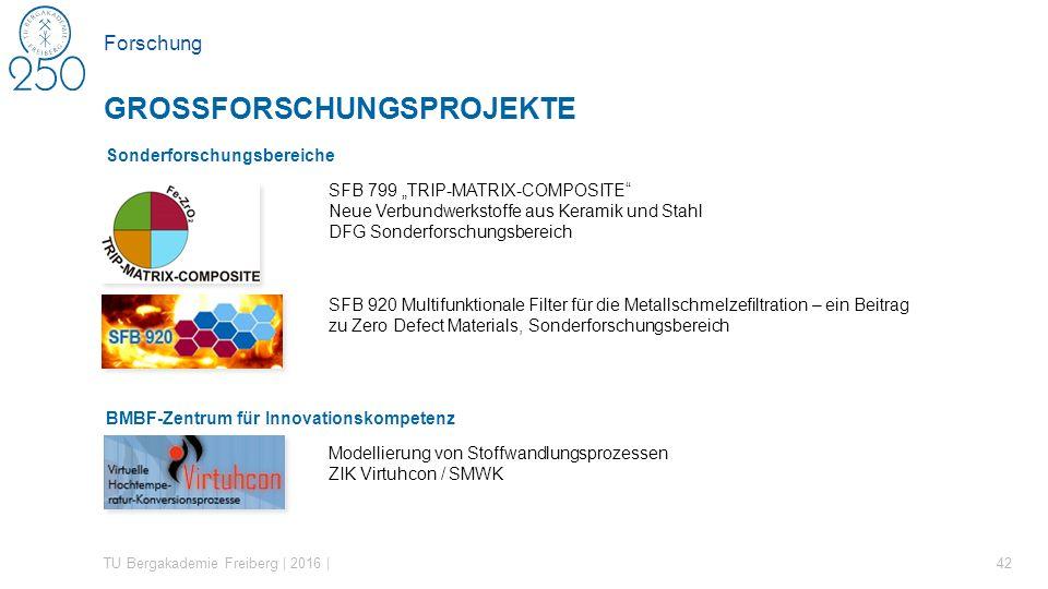 """Forschung Sonderforschungsbereiche SFB 799 """"TRIP-MATRIX-COMPOSITE"""" Neue Verbundwerkstoffe aus Keramik und Stahl DFG Sonderforschungsbereich SFB 920 Mu"""
